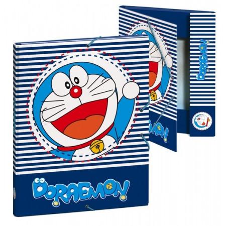 Carpeta encuadernada color azul Doraemon