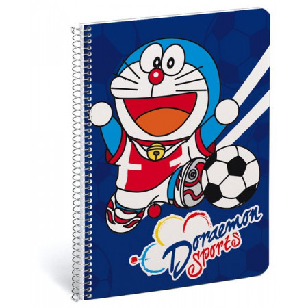 Libreta A5 80 hojas rayado Doraemon sports